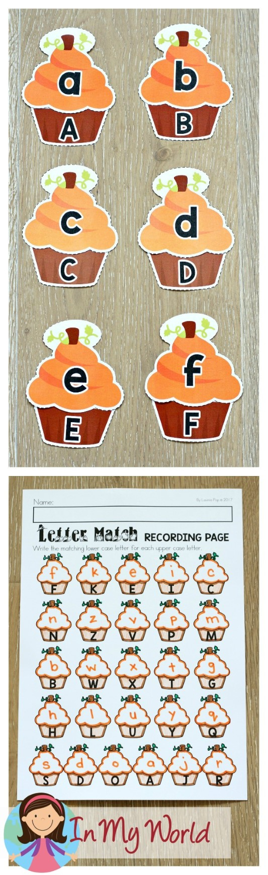 FREE Thanksgiving Literacy Centers for Kindergarten. Upper case and lower case letter match