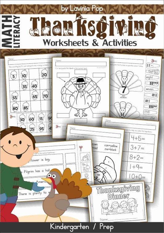 Thanksgiving Worksheets and Activities for Kindergarten.