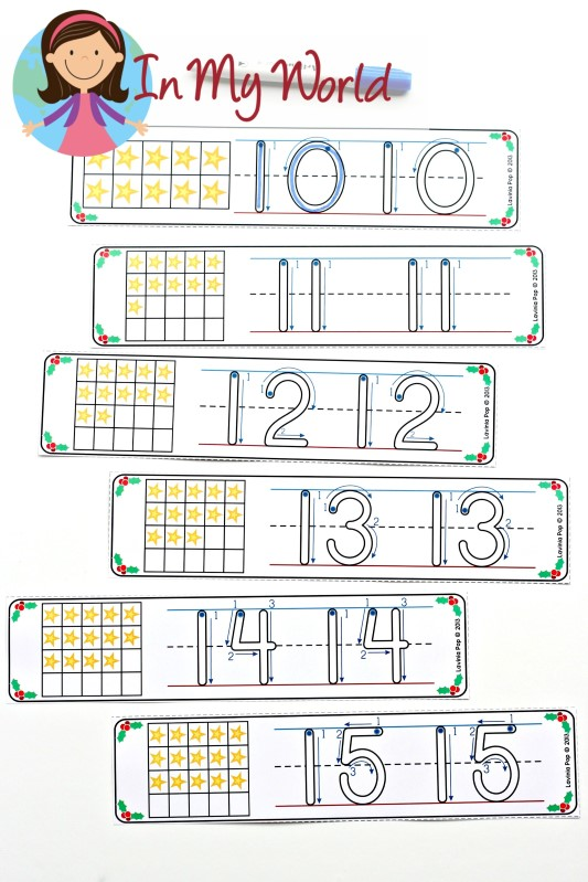 FREE Christmas Math Centers for Kindergarten. Number Tracing.