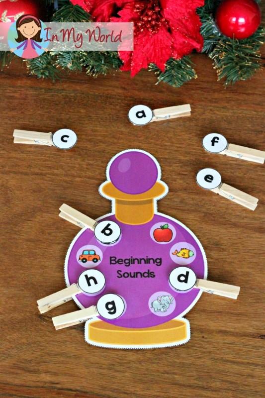Christmas Nativity Preschool Centers Beginning sounds