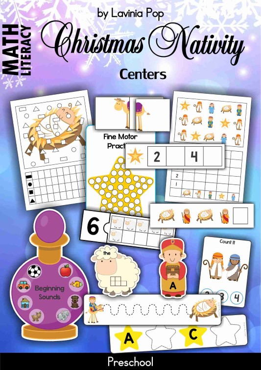 Christmas Nativity Preschool Centers