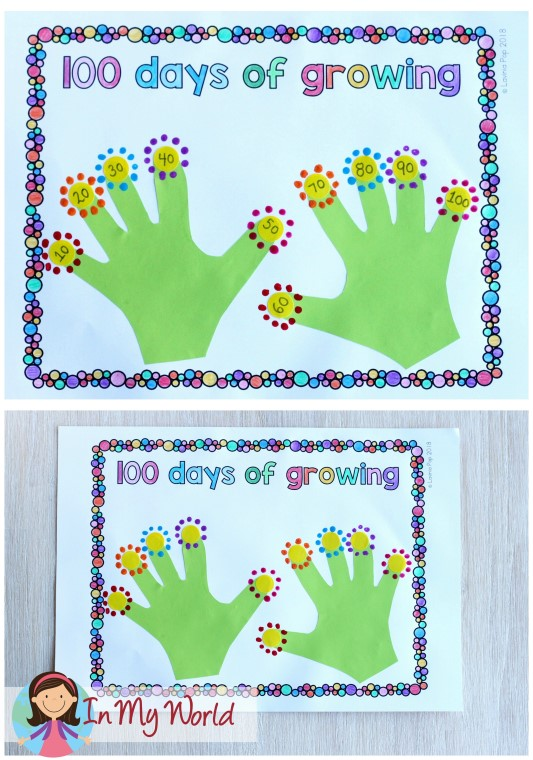 FREE 100th Day of School activity template