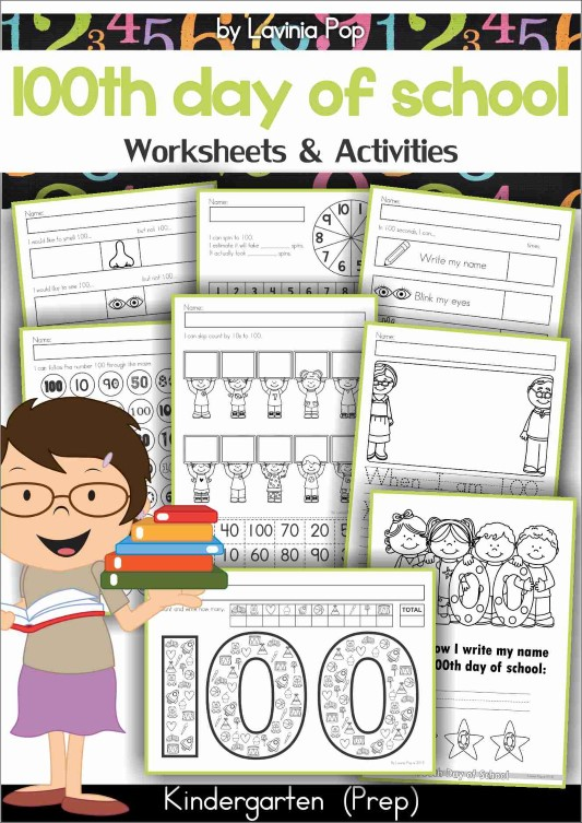 100th Day of School Worksheets and Activities.