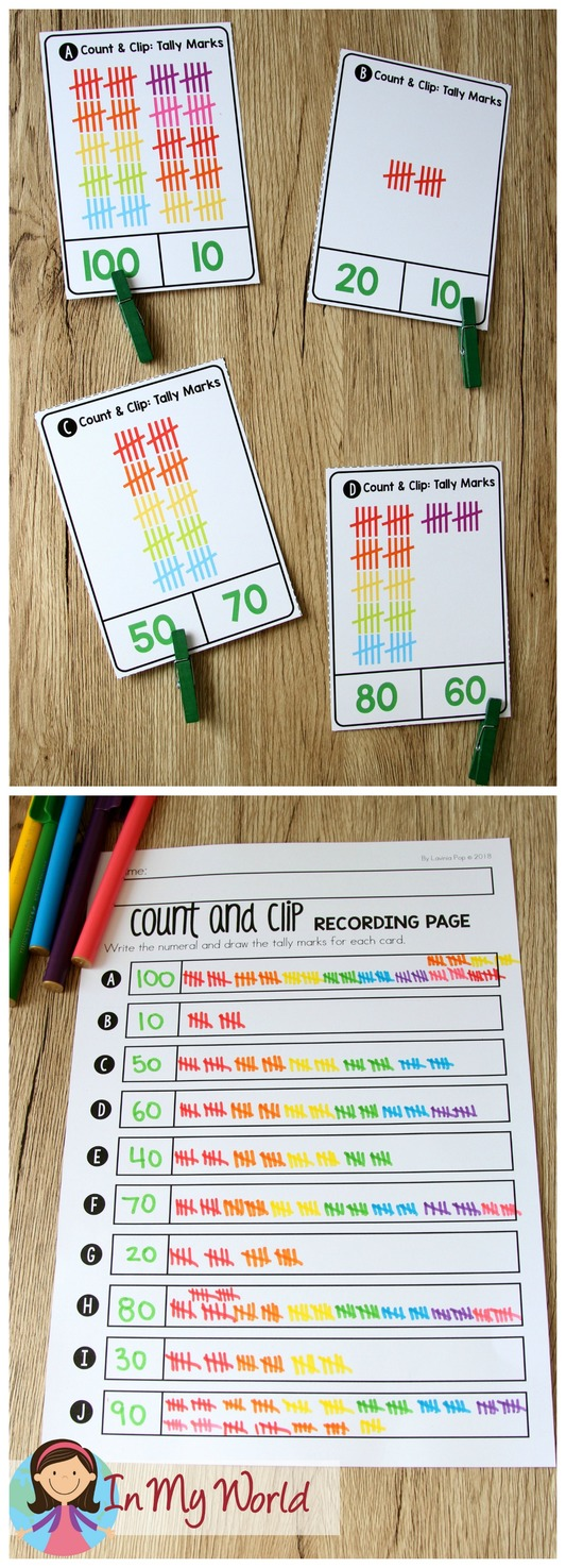 St. Patrick's Day Math Centers for Kindergarten. Tallies.