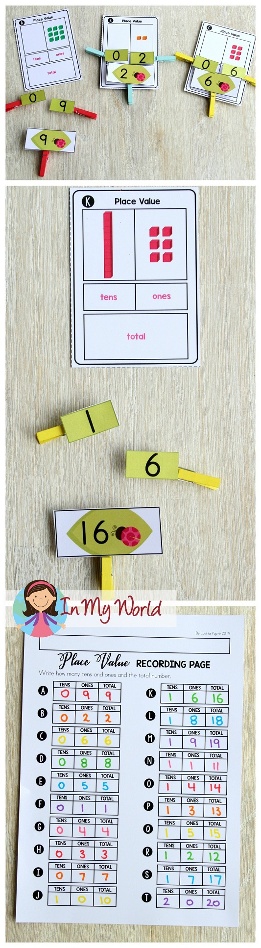 FREE Spring Math Centers for Kindergarten. Place value.