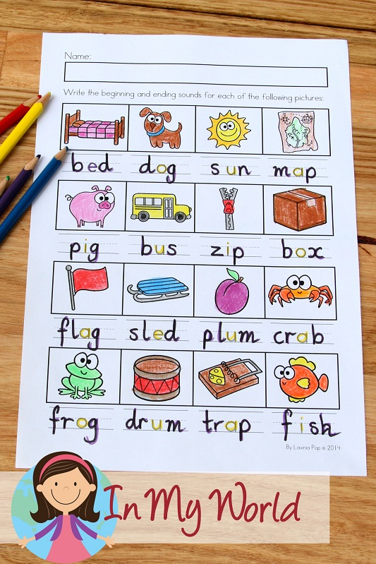 Spring Worksheets and Activities for Kindergarten. Write the missing beginning and ending sounds.