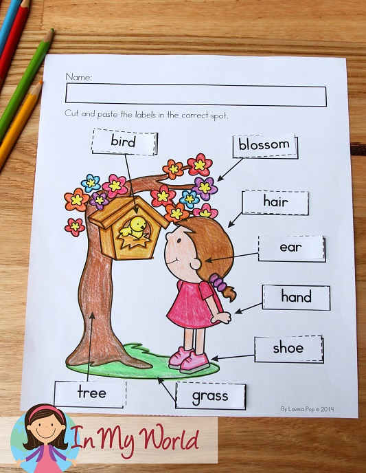 Spring Worksheets and Activities for Kindergarten. Label the picture.